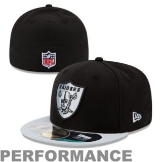 New Era Oakland Raiders Youth Thanksgiving Day 59FIFTY Fitted Performance Hat   Black