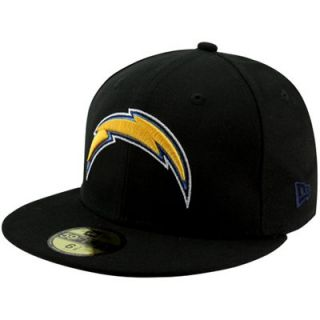 New Era San Diego Chargers Solid 59FIFTY Fitted Hat   Black