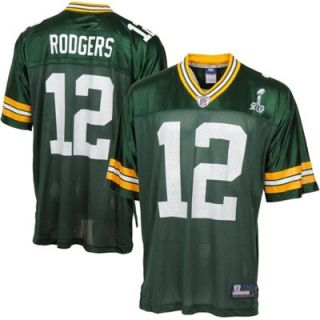 Reebok Aaron Rodgers Green Bay Packers Super Bowl XLV Replica Jersey   Green