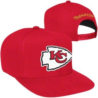 Mitchell & Ness Kansas City Chiefs Red Throwback Logo Snapback Hat