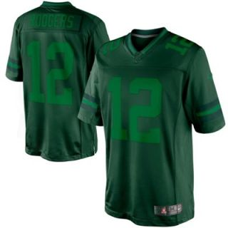 Nike Aaron Rodgers Green Bay Packers Drenched Limited Jersey   Green