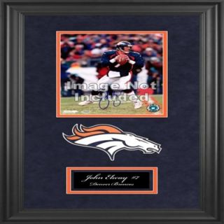 John Elway Denver Broncos Deluxe Vertical 8 x 10 Team Logo Frame with Team Logo
