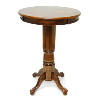 Boraam Florence Sunburst Pedestal Pub Table   Walnut   Pub Tables