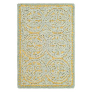 Safavieh Cambridge CAM234A Area Rug   Blue/Gold   Area Rugs