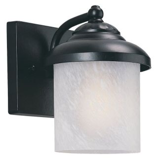 Sea Gull Yorktowne Outdoor Wall Lantern   8.25H in. Forged Iron   ENERGY STAR   Outdoor Wall Lights