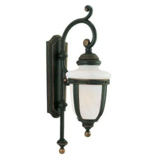 Sea Gull Portofino Outdoor Wall Lantern   40H in. Mojave Luster   Outdoor Wall Lights