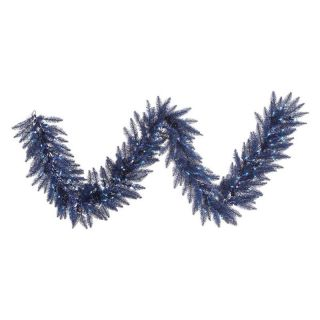 Vickerman 9 ft. Dark Blue Fir Pre lit Garland   Christmas Garland