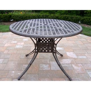 Oakland Living Elite Cast Aluminum 42 in. Patio Dining Table   Patio Tables