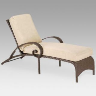 Woodard Carlton Wicker Adjustable Chaise Lounge   Wicker Chairs & Seating