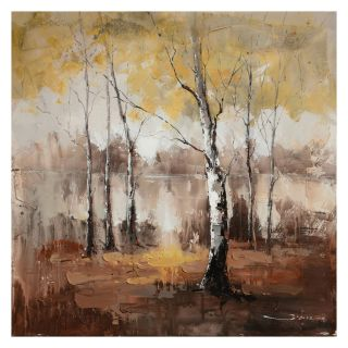 Yosemite Home Decor Autumn Mist Wall Art   40W x 40H in.   Hand Painted Art