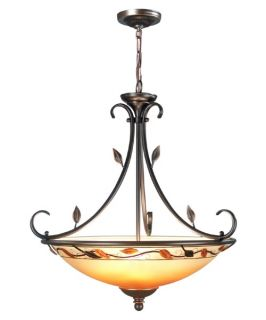 Dale Tiffany Garden Leaf Inverted Fixture Pendant   Tiffany Ceiling Lighting