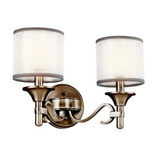 Kichler 45282AP Lacey 2 Light Bath Fixture   14W in. Antique Pewter   Bathroom Lighting