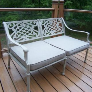 Oakland Living Tacoma Cast Aluminum Deep Seating Loveseat   Outdoor Sofas & Loveseats