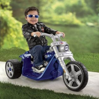 Fisher Price Battery Powered POWER WHEELS Harley Davidson Riding Toy   Blue   Battery Powered Riding Toys