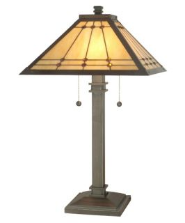 Dale Tiffany Jeweled Mission Lamp   Tiffany Table Lamps