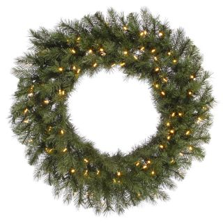36 in. Albany Spruce Pre Lit LED Wreath   Christmas Wreaths