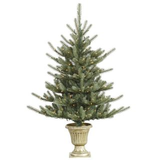 Vickerman 5 ft. Potted Colorado Blue Pre Lit Christmas Tree   Christmas Trees