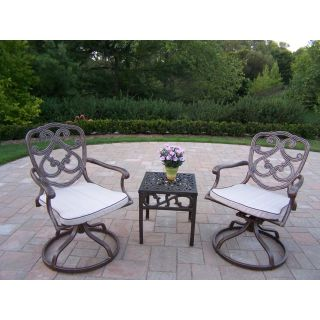 Oakland Living Pacifica Cast Aluminum Swivel Rocker Set   Conversation Patio Sets