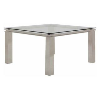 Nuevo Deco Square Glass Dining Table   Dining Tables
