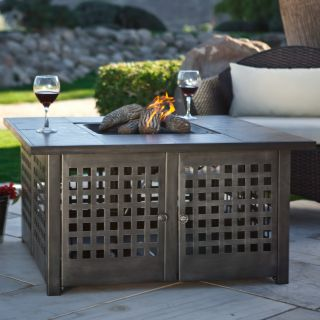 Uniflame Propane Gas Fire Pit with Grey Slate Top   Fire Pits