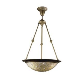 Dale Tiffany Mosaic Jewel Inverted Fixture   18W in. Antique Gold   Tiffany Ceiling Lighting