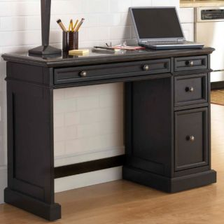 Home Styles Traditions Black Utility Desk with Black Granite Top   Computer Desks