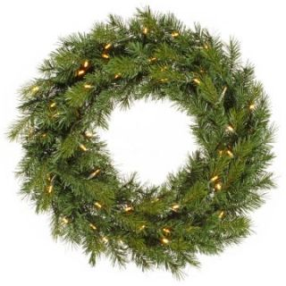 30 in. Augusta Pine Pre Lit Warm White LED Wreath   Christmas Wreaths