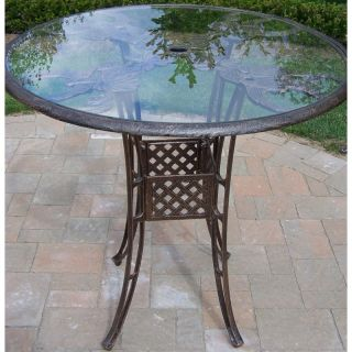 Oakland Living Hummingbird Cast Aluminum 42 in. Patio Bar Table   Patio Tables