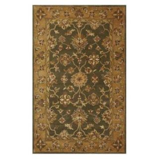 KAS Rugs Jaipur 3858 Riya Area Rug   Green / Gold   Area Rugs
