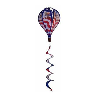 In the Breeze Patriot Eagle Hot Air Balloon Wind Spinner   Wind Spinners