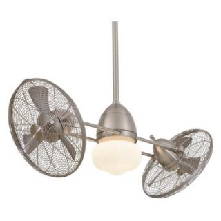 Minka Aire F402 BNW Gyro Twin Turbo 42 in. Indoor / Outdoor Ceiling Fan   Brushed Nickel   Outdoor Ceiling Fans