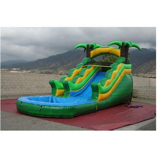 EZ Inflatables 13 ft. Tropical Water Slide   Commercial Inflatables