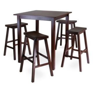 Winsome Parkland 5 Piece Square Pub High Table Set   Dining Table Sets