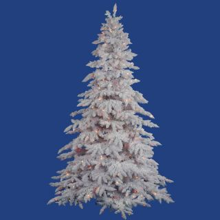 Vickerman 4.5 ft. Flocked White Pre lit LED Christmas Tree   Christmas Trees