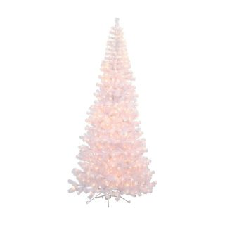 7.5 ft. White Corner Pre Lit Christmas Tree   Christmas Trees