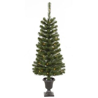 Vickerman 4 ft. Potted Spruce Pre Lit Christmas Tree   Christmas Trees