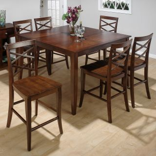 Jofran Steven Counter Height Table and 6 Chairs   Dining Table Sets