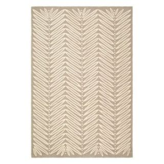 Martha Stewart by Safavieh,MSR3612A Chevron Leaves Area Rug   Chamois Beige   Area Rugs