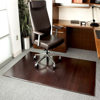 Anji Mountain Dark Cherry Bamboo Tri Fold Office Chair Mat   Area Rugs