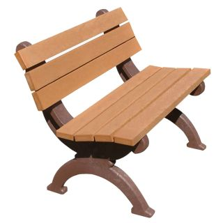 Monarque 4 ft. Commercial Grade Armless Park Bench   Outdoor Benches
