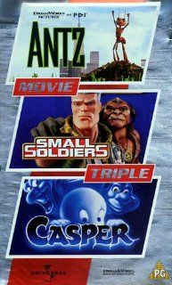 Antz/Small Soldiers/Casper [VHS] [UK Import] 4 Front Triples   Kids Animation VHS