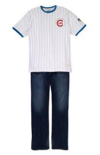 Red Jacket Chicago Cubs T Shirt & AG Jeans Hero Relaxed Straight Leg Jeans
