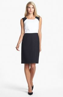 Tahari Embellished Colorblock Sheath Dress