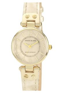 Anne Klein Round Patent Leather Strap Watch, 26mm