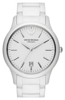 Emporio Armani Round Ceramic Bracelet Watch, 43mm