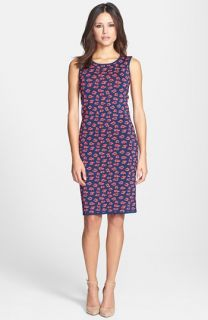 kensie Shattered Geo Print Sleeveless Dress