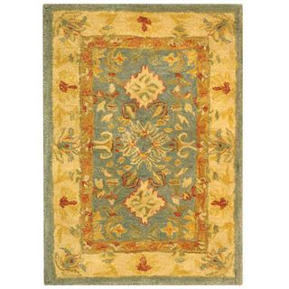 Handmade Legacy Light Blue Wool Rug (2' x 3') Safavieh Accent Rugs