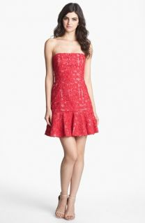 BCBGMAXAZRIA Soutache Lace Drop Waist Dress