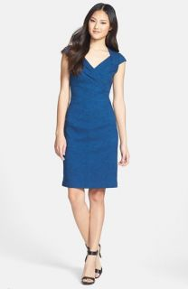 Adrianna Papell Lace Bodice Banded Sheath Dress (Regular & Petite)