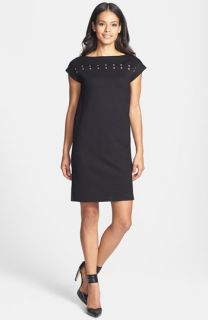 Isaac Mizrahi New York Studded Ponte Shift Dress